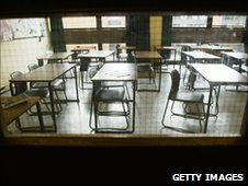 Empty classroom