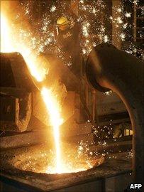 Molten iron ore