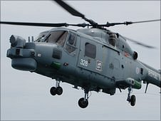 HMS Daring's Lynx Helicopter