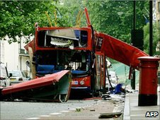 Bus in Tavistock Square