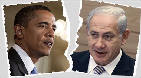 US President Barack Obama and Israeli Prime Minister  Benjamin Netanyahu (R) (Photos:AP)