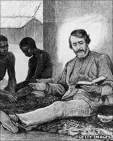 Drawing of British explorer and missionary David Livingstone circa 1855
