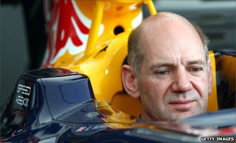 Adrian Newey in the RB5 at Goodwood Festival of Speed