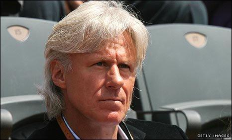Former Wimbledon star Bjorn Borg