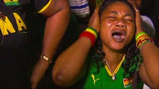 Disappointed Ghana fan