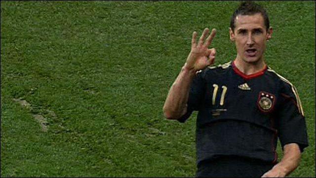 Germany forward Miroslav Klose