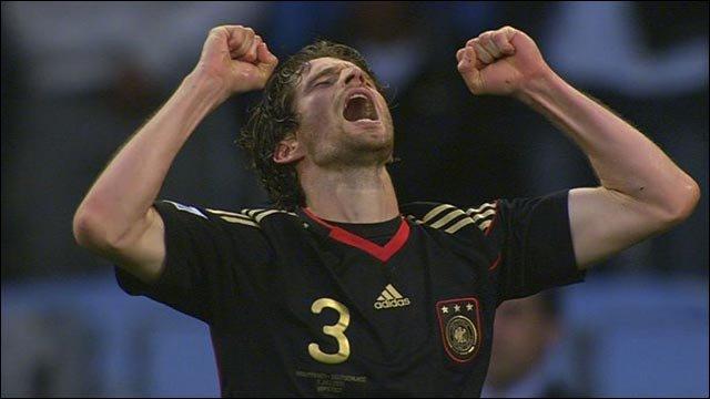 Friedrich celebrates Germany's fourth goal