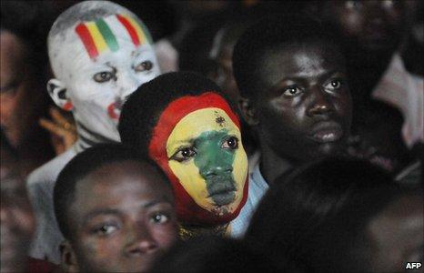 Ghanaian football fan - Accra, 2 July 2010