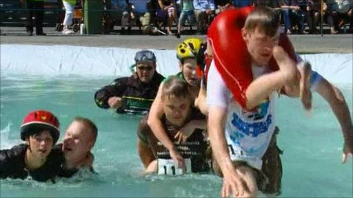 Couples compete for wife carrying title