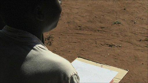 Child on the Zimbabwe/South Africa border