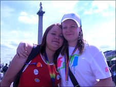 Courtney Collins (left) and Shona Phimister