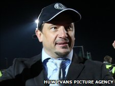 Newport County manager Dean Holdsworth