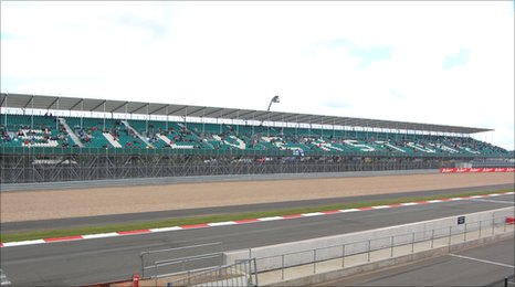 On e of the stands at Silverstone.