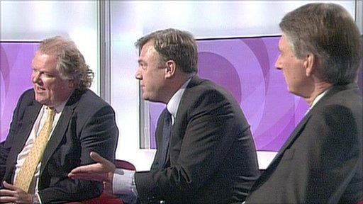 Digby Jones, Ed Balls and Philip Hammond