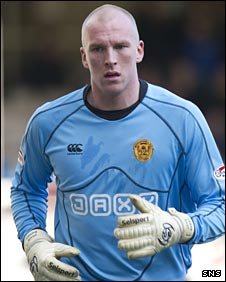 John Ruddy in action for Motherwell