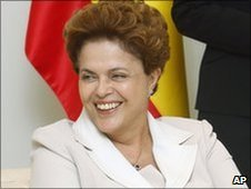 Dilma Rousseff during a visit to Madrid on 18 June