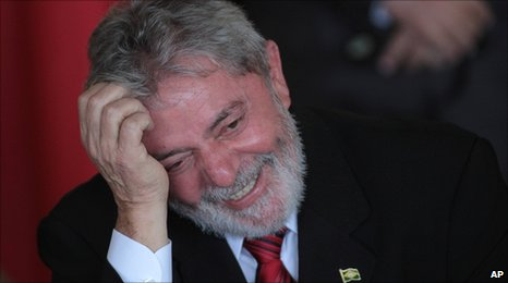 Brazilian President Lula da Silva in May 2010