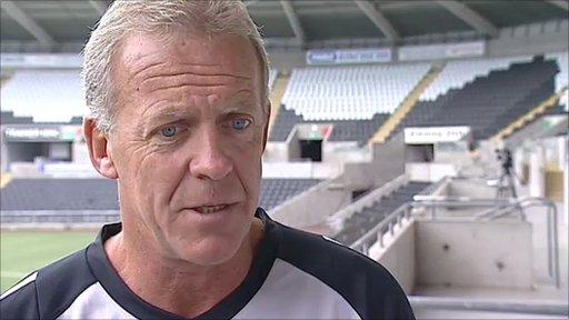 Swansea City coach Alan Curtis