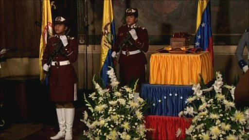 State burial of Manuela Saenz