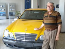 Marwan Kishawi in his showroom