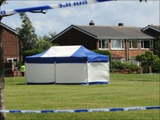 Scene of shooting in Birtley