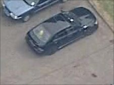 Lexus car which was believed to have been used by Raoul Moat