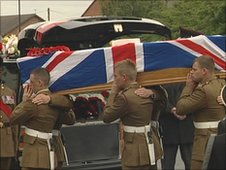 Funeral of L/Cpl Andrew Breeze