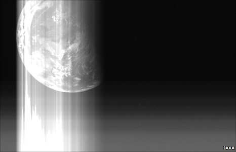 Hayabusa's final view of Earth
