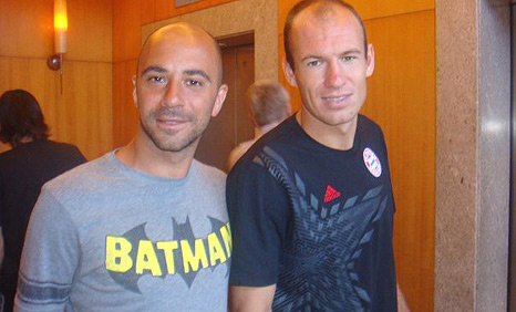 Paul and Arjen Robben in the Netherlands World Cup Photo Album