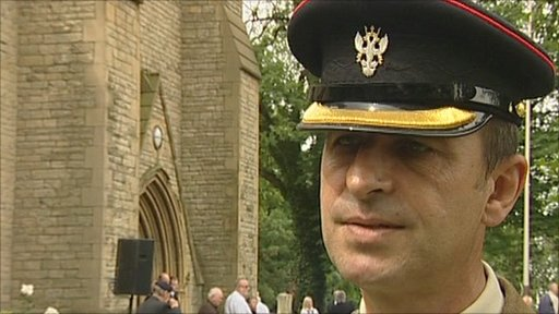 Major Ronnie Goodwin,  1 Mercian Regiment
