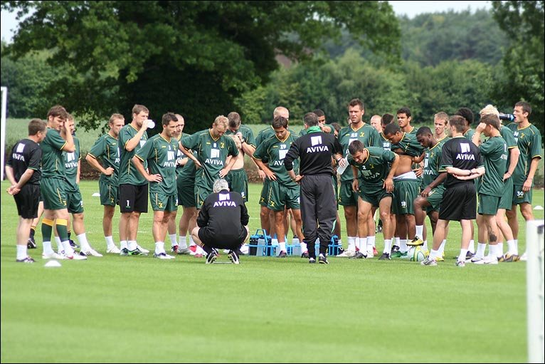 Norwich City players in pre-season training