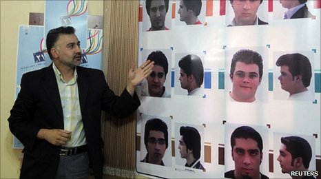 "Iranian officials have published a guide to ""appropriate"" men's hairstyles"