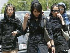 Young Iranian women in Tehran (file image)