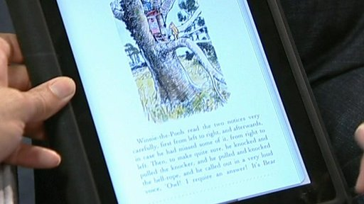 Reading a novel on the iPad
