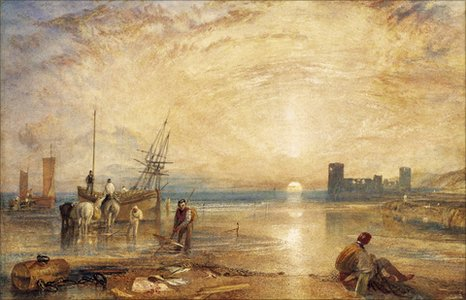 Turner's Flint Castle, sold at auction at Sotheby's in London (picture courtesy of Sotheby's)