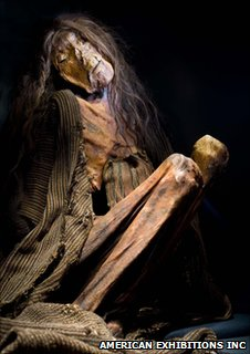 Mummy of an adult female (Image: American Exhibitions Inc)