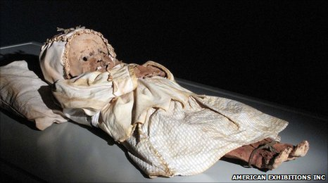 Child mummy (Image: American Exhibitions Inc)