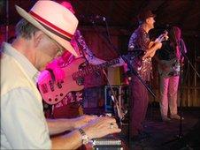 BJ Cole and Hank Wangford at the Maverick Festival
