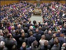 MPs on their first day in the Commons chamber