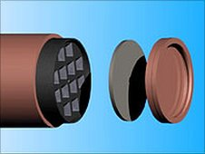 Schematic of cylinders.  Image: Posiva Oy/Afore Oy