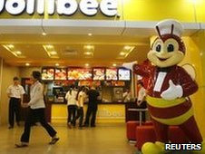 Jollibee fast food store in a mall, Ho Chi Minh City, Vietnam, May 2010