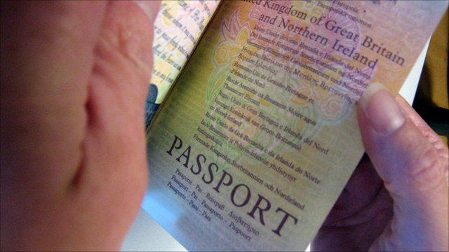 Passport being checked