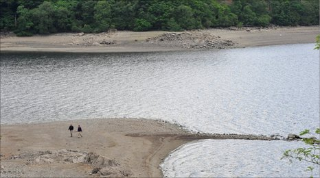Low levels in Thirlmere reservoir