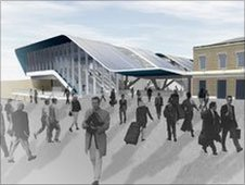 How the new Reading station entrance would look