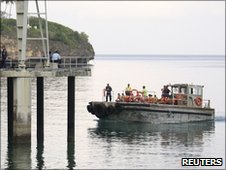 Undated handout photo of a patrol boat transporting suspected illegal immigrants to an Australian government immigration detention centre on Christmas Island.