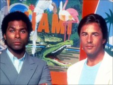 Philip Michael Thomas and Don Johnson in Miami Vice. Universal Publicity