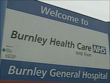 Burnley hospital sign