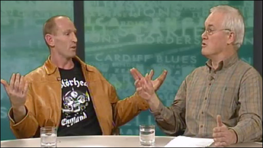 Gareth Thomas and Eddie Butler on Scrum V in 2006 in the wake of Mike Ruddock's departure as Wales coach