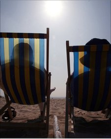 Sunbathers. Pic Matt Cardy/Getty Images