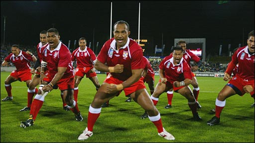 Tonga perform the Kailao, also known as the Sipi Tau